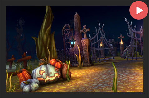 Spooky Cemetery Unity Asset